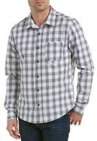 Michael Stars Plaid Linen-blend Woven Shirt.