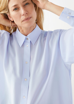And other stories Oversized Button Up Silk Shirt