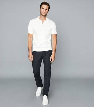 Reiss EASTBURY SLIM SLIM FIT CHINOS Steel Blue