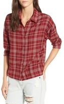 RVCA Women's Drift Away Plaid Shirt