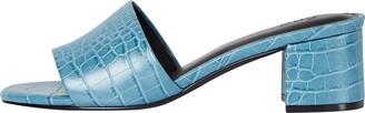 Find. Block Heel Mule Open Toe Sandals Orange Hot Coral) 5 UK