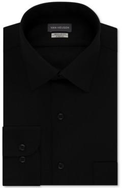 Van Heusen Men's Classic/Regular Fit Stretch Wrinkle Free Sateen Dress Shirt