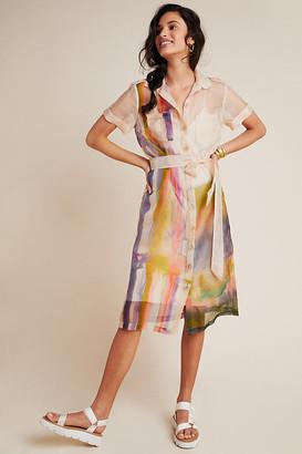 Aimee Clarke Organza Silk Shirtdress By Aimee Clarke in Assorted Size XS