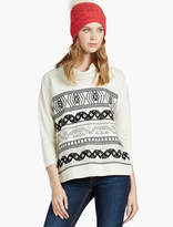 Lucky Brand Stripe Embroidered Cowl