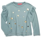 Menu Girl's Star Print Ruffle Sweatshirt