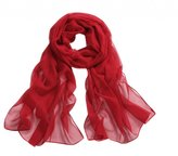 HelloPretty Women's Chiffon Silk Feel Solid Color Scarf 160*50 cm Various Colors Avaiable