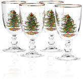 Spode Glassware, Set of 4 Christmas Tree Goblets
