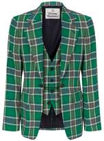 Vivienne Westwood Brushed Cotton Tartan Blazer