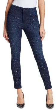 Skinnygirl Fritzo Mid-Rise Studded-Front Skinny Jeans