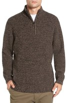 Rodd & Gunn 'Woodglen' Herringbone Knit Lambswool Quarter Zip Sweater