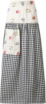Ermanno Gallamini flower embroidered gingham maxi skirt