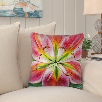 Tucker Bay Isle Home Lily Indoor/Outdoor Throw Pillow Bay Isle Home