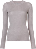 Joseph ribbed slim-fit jumper - women - Silk/Cashmere/Mercerized Wool - S