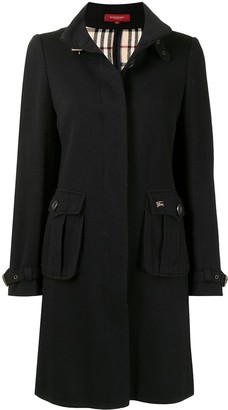 Burberry Pre-Owned Buckled Neck Thigh-Length Coat