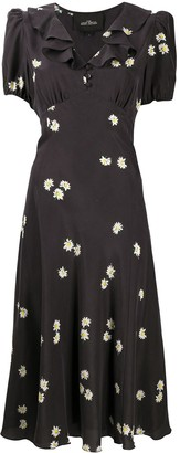 Marc Jacobs Love daisy-print silk dress