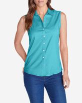 Eddie Bauer Women's Wrinkle-Free Sleeveless Shirt - Solid