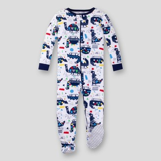 Lamaze Toddler Boys' Organic Cotton Dino Stretchy Footed Sleeper - Blue