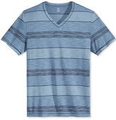 INC International Concepts Men's Yes Stripe V-Neck T-Shirt, Only at Macy's