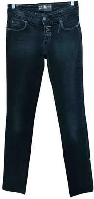 Galliano Black Cotton Jeans for Women