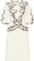 Alexander McQueen Ruffled Wool Dress - Cream