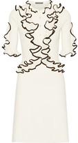 Alexander McQueen Ruffled Wool Dress - Cream
