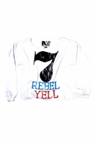Rebel Yell 7 Boyfriend Pullover in White