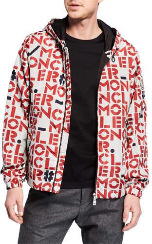 Moncler Genius Men's Dorfman Block Logo-Print Jacket