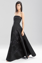 Josie Natori Duchess Satin Strapless Dress