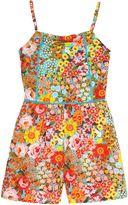 Uttam Girls 70s Floral Print Playsuit