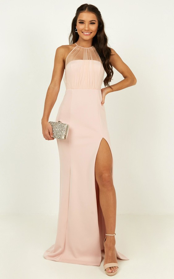 Showpo Still Love You Dress in blush - 6 (XS) Bridesmaid