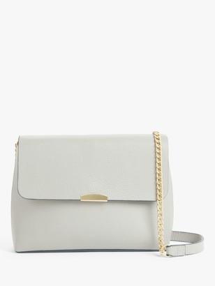 John Lewis & Partners Soft Fold Chain Leather Shoulder Bag