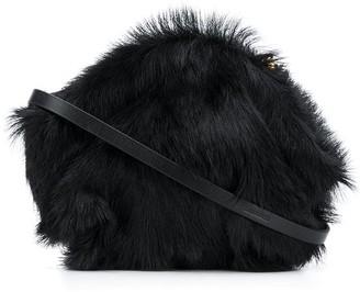 Jil Sander mini Goji faux-fur crossbody bag