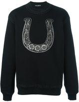 Dolce & Gabbana embroidered horseshoe sweatshirt - men - Cotton/Polyester - 46