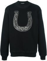 Dolce & Gabbana embroidered horseshoe sweatshirt