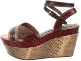 Marni Snakeskin Platform Sandals