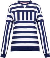 House of Holland Blue Graphic Stripe Sweatshirt