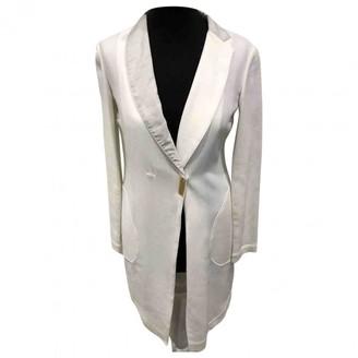 Brunello Cucinelli White Cotton Trench Coat for Women