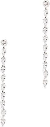 Fallon Monarch Crystal-embellished Silver-tone Drop Earrings