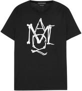 Alexander Mcqueen Black Logo-print Cotton T-shirt