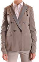 Brunello Cucinelli Women's Beige Silk Trench Coat.