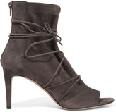 Vince Adisa lace-up suede ankle boots