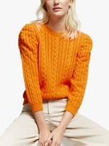 Gestuz Rawangz Cable Knit Jumper, Orange Pepper