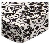 SheetWorld Extra Deep Fitted Portable / Mini Crib Sheet - Damask - Made In USA