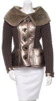 Oscar de la Renta Shearling Metallic Jacket w/ Tags