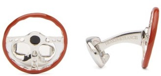 Deakin & Francis Wheel Sterling-silver Cufflinks - Brown