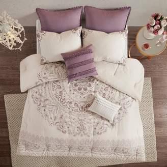 Nobrand No Brand 8pc Kaia Cotton Printed Reversible Comforter Set
