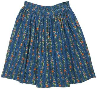Molo Flower Print Organic Cotton Midi Skirt