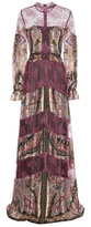Etro Lace-trimmed printed silk dress