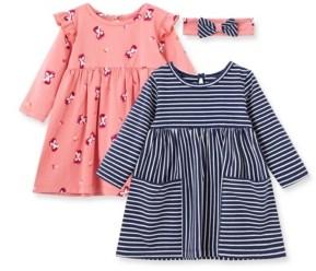 Little Me Baby Girls Fox Knit Dress Set
