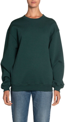 Balenciaga Logo-Back Looped Fleece Sweatshirt